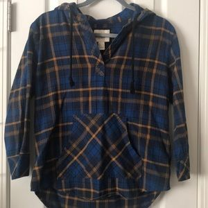 Forever 21 hooded Flannel Size S